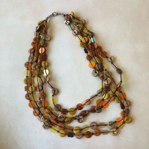 3 for $15😍 wood and sequin 5 strand necklace